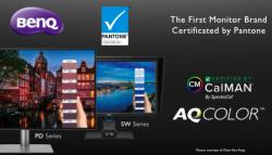 DesignVue и PhotoVue мониторите, на BenQ, получиха статут на Pantone Validated