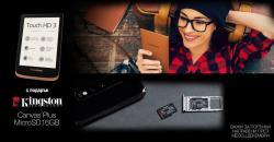 Подарък Kingston microSD Canvas Plus карта памет при поръчка на Pocketbook през месец Декември.