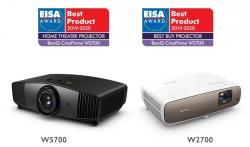 Международно признатите награди на EISA отиват при W2700 и W5700 проекторите на BenQ