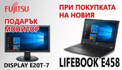 Fujitsu LiveBook E458 и Display E20T-7