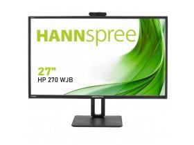 Монитори HANNSPREE HP248WJB, 23.8 (27) inch, Wide, Full HD, 5 mpix вградена камера, D-Sub, HDMI, DP, Черен