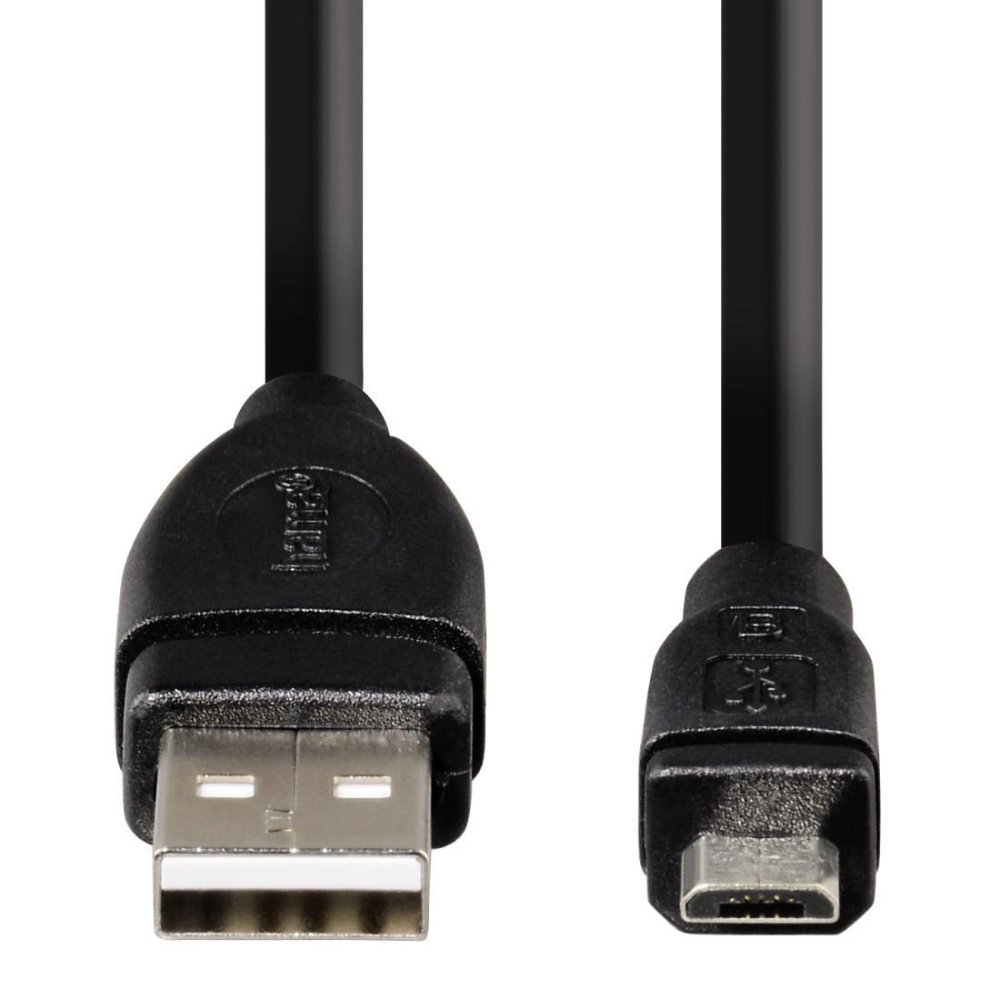 Кабел HAMA USB 2.0 Micro B мъжко - A мъжко, 1.8 м, 1 звезда