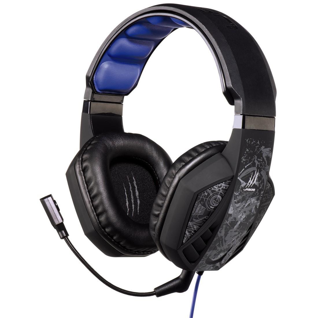 Геймърски слушалки Hama, Urage Soundz Black, Микрофон, Черно