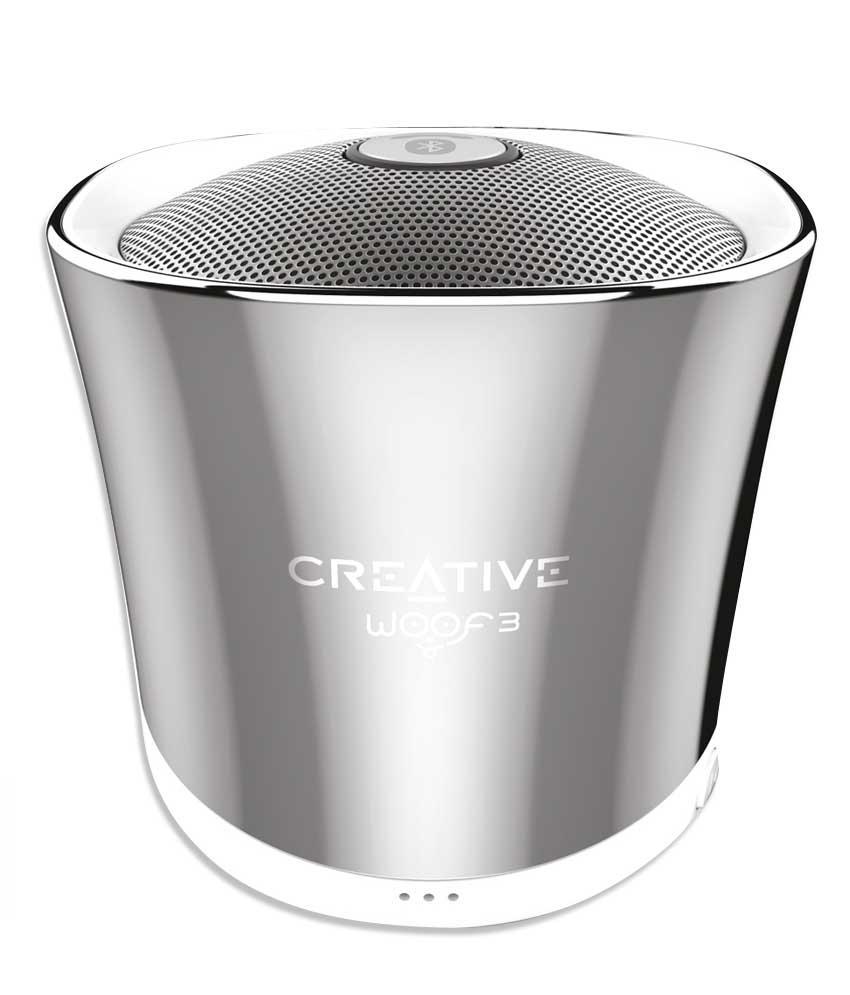 Тонколонка за мобилни устройства Creative WOOF3, хром