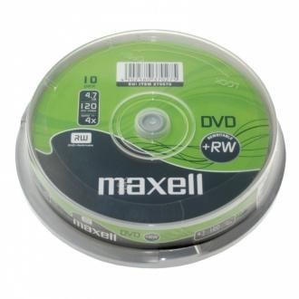 DVD+RW MAXELL, 4,7 GB, 4x, 10 бр.
