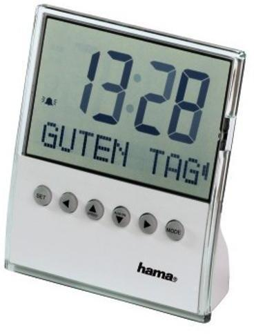 Часовник/будилник с кратко съобщение на екрана за поздрав HAMA 104955, Бял