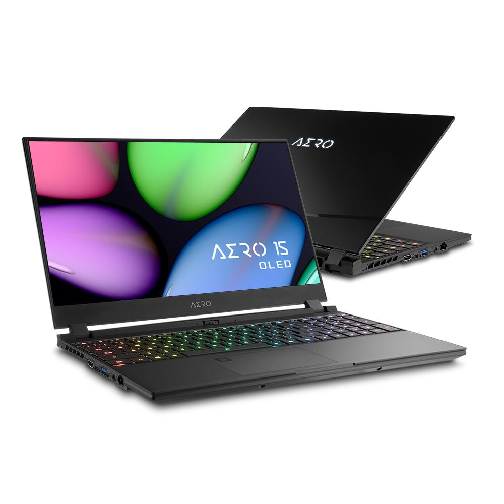 "Лаптоп GIGABYTE AERO 15.6"", UHD OLED,Intel® Core™ i7-9750H, 2x8GB, M.2. 512GB , RTX2070, Windows 10 Pro"