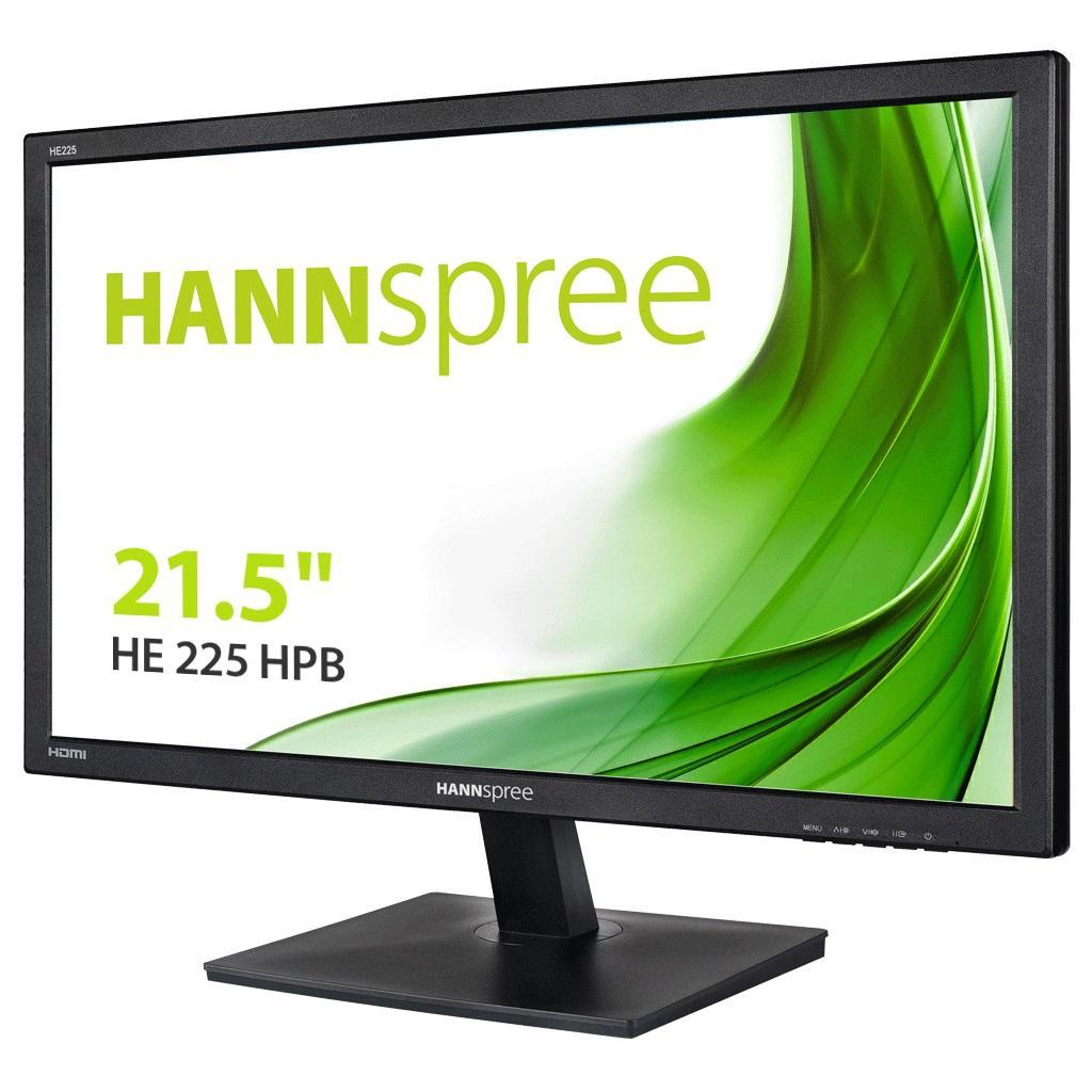 Монитор HANNSPREE HE225HPB, TFT, 21.5 inch, Whide, Full HD, D-Sub, HDMI, Черен