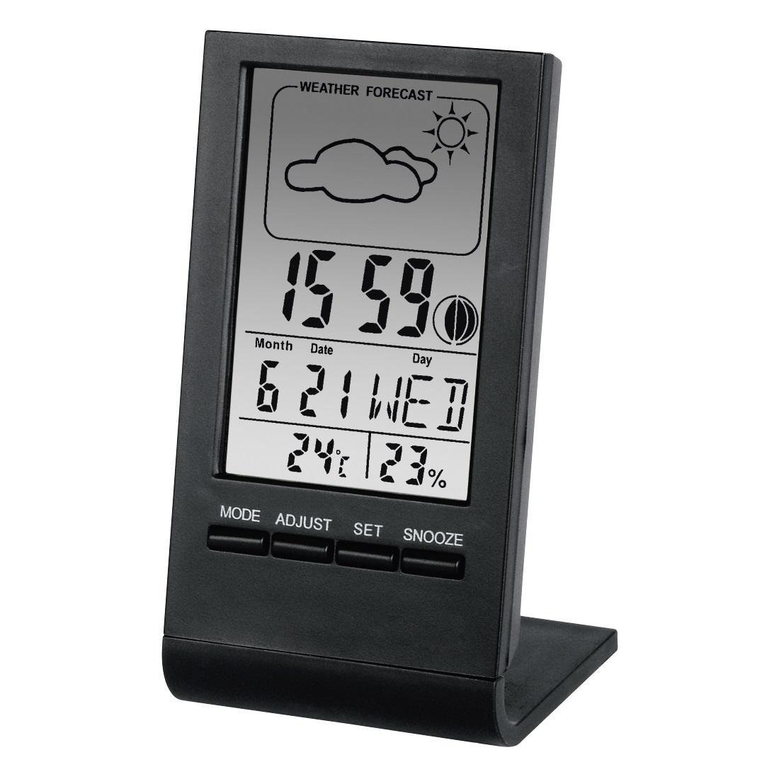 Цифров термометър/хигрометър HAMA TH-100 186358, Черен