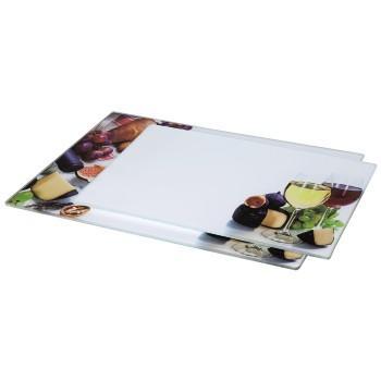 """Xavax Стъклени плочи за рязане, 2 броя, дизайн """"Вино"""", 30 х 20 см, 35 х 25 см"""