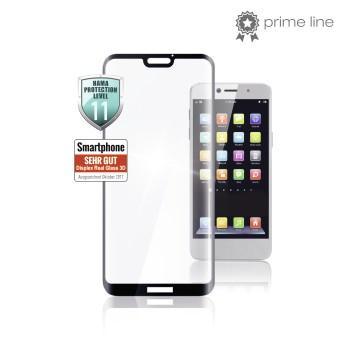Стъклен 3D протектор HAMA за Huawei Huawei P30 lite, черен кант