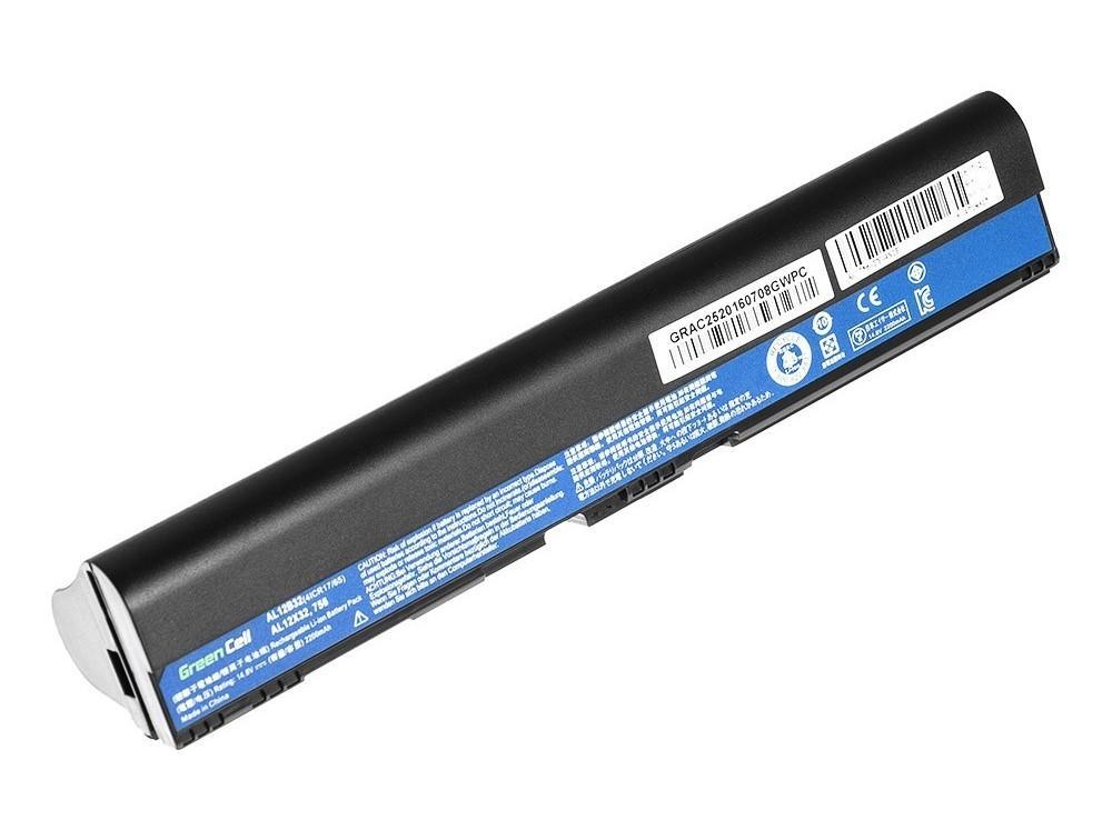 Батерия  за лаптоп  AS10B75 AS10B31 for Acer Aspire 5553 5625G 5745 AL12B72 14.4V 2200mAh GREEN CELL
