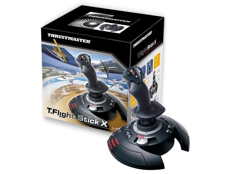 Жичен джойстик,  авиосимулатор Thrustmaster T.Flight Stick X  за PC / PS3, Черен