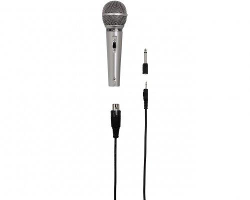 Аудио микрофон HAMA DM-40, сив, 3м кабел. 6.3мм адаптер