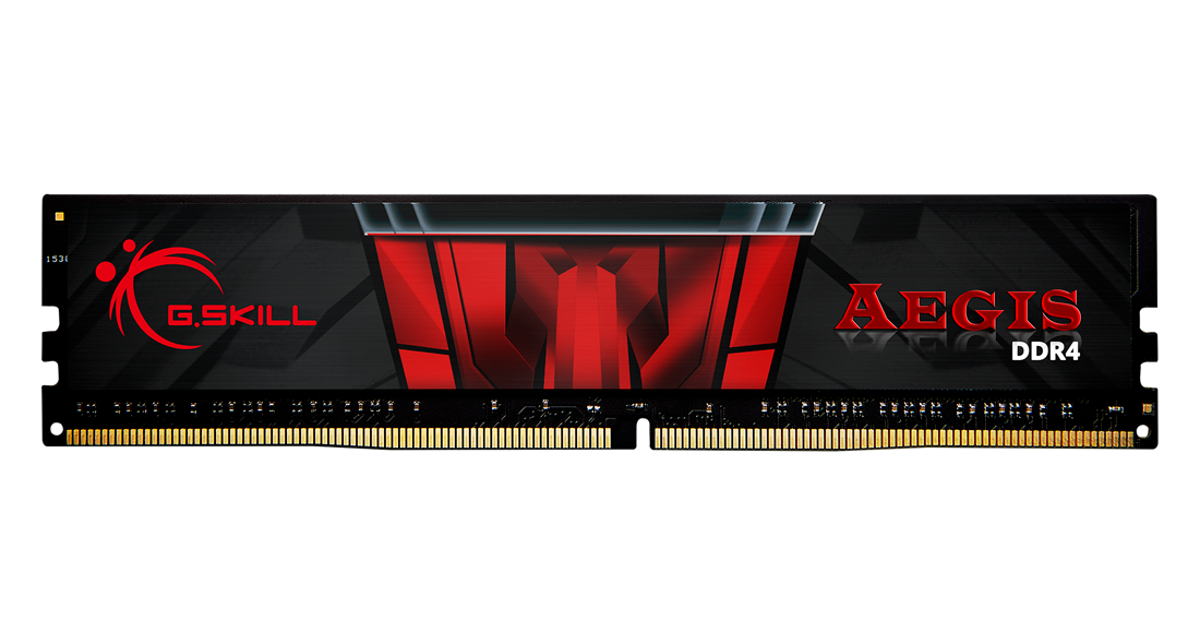Памет G.Skill Aegis DDR4 4GB 2400MHz, CL17-17-17-39 1.2V