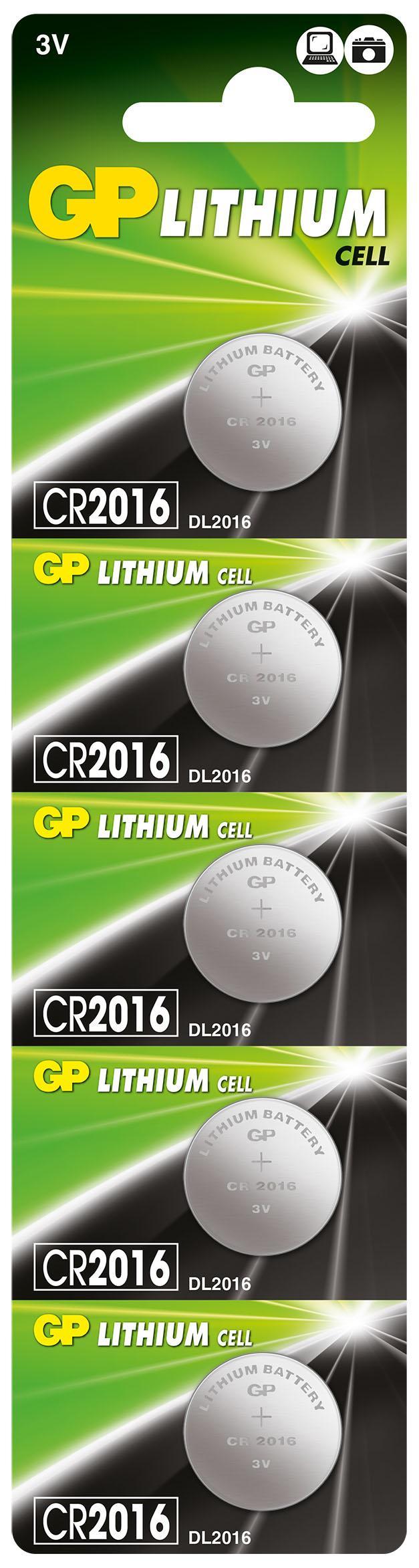 Литиева бутонна батерия GP CR 2016 3V 1бр. /5pk/ GP