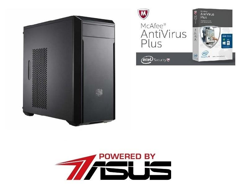 Настолен компютър Vali PC Powered by Asus Office i3-7100 3.9GHz / 1000GB HDD / 4GB DDR4 / DVD-RW