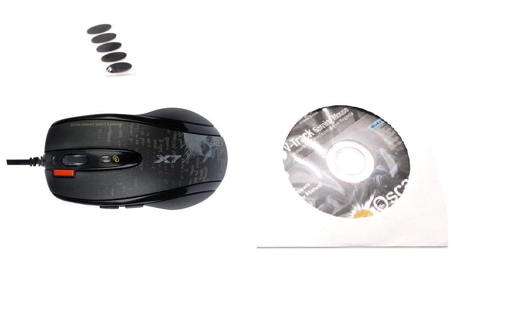 Геймърска мишка A4tech, V-track F5, Лазерна, Кабел, USB