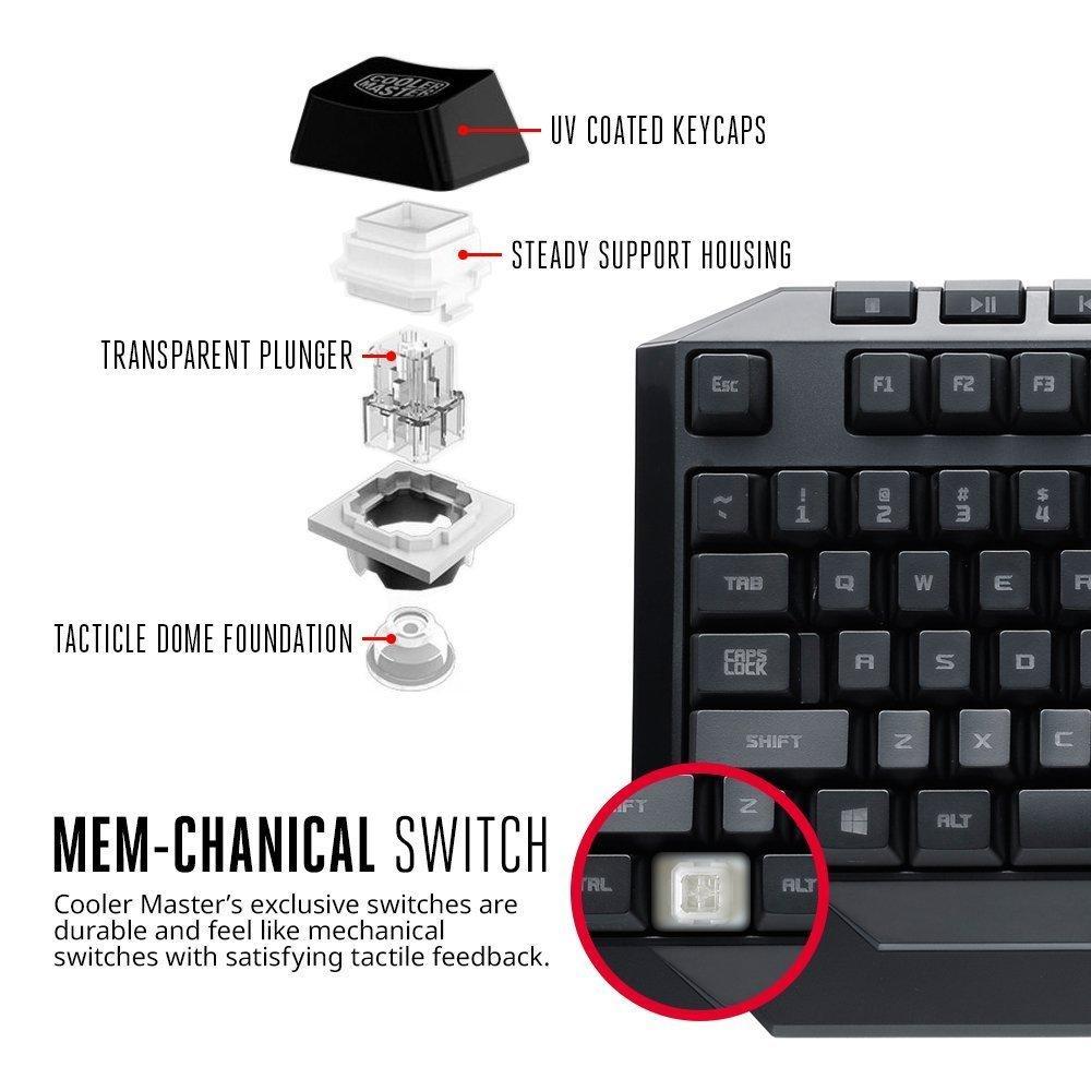 Геймърски комплект мишка с клавиатура Cooler Master, Devastator2, Червен