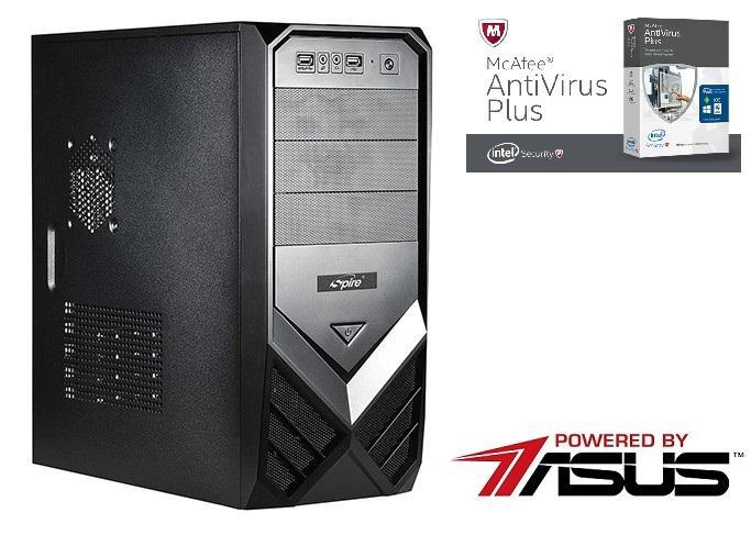 Настолен компютър Vali PC Powerd by Asus Office X2 4000 3.2GHz / 4GB DDR3 / 500GB HDD / DVD-RW