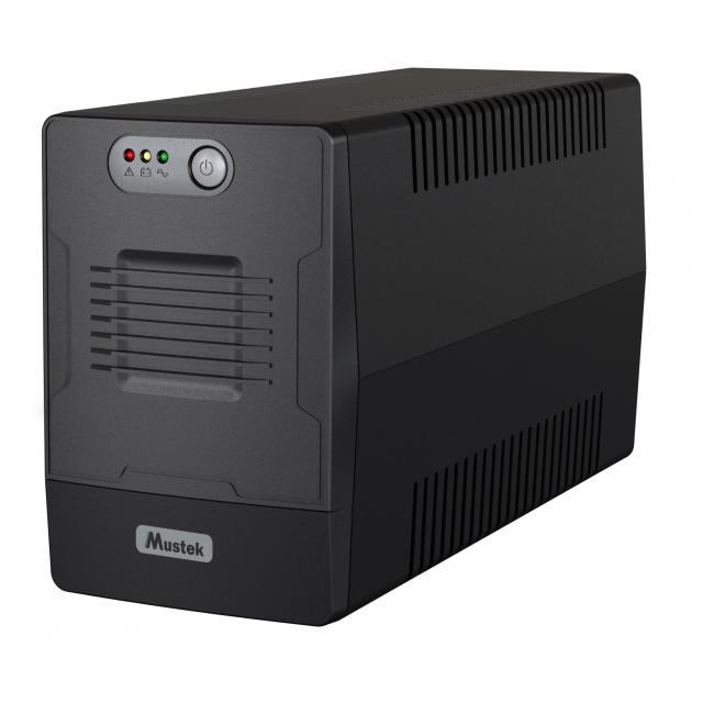 UPS MUSTEK PowerMust 1000 EG, 1000VA/600W, Schuko (шуко) x 4, Line-Interactive