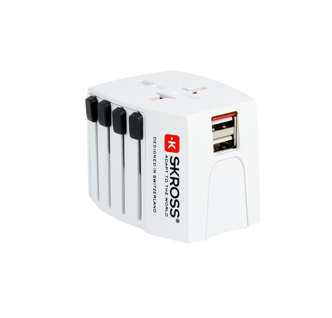 Адаптер Skross MUV 1302930, 2 х USB, 2.5А
