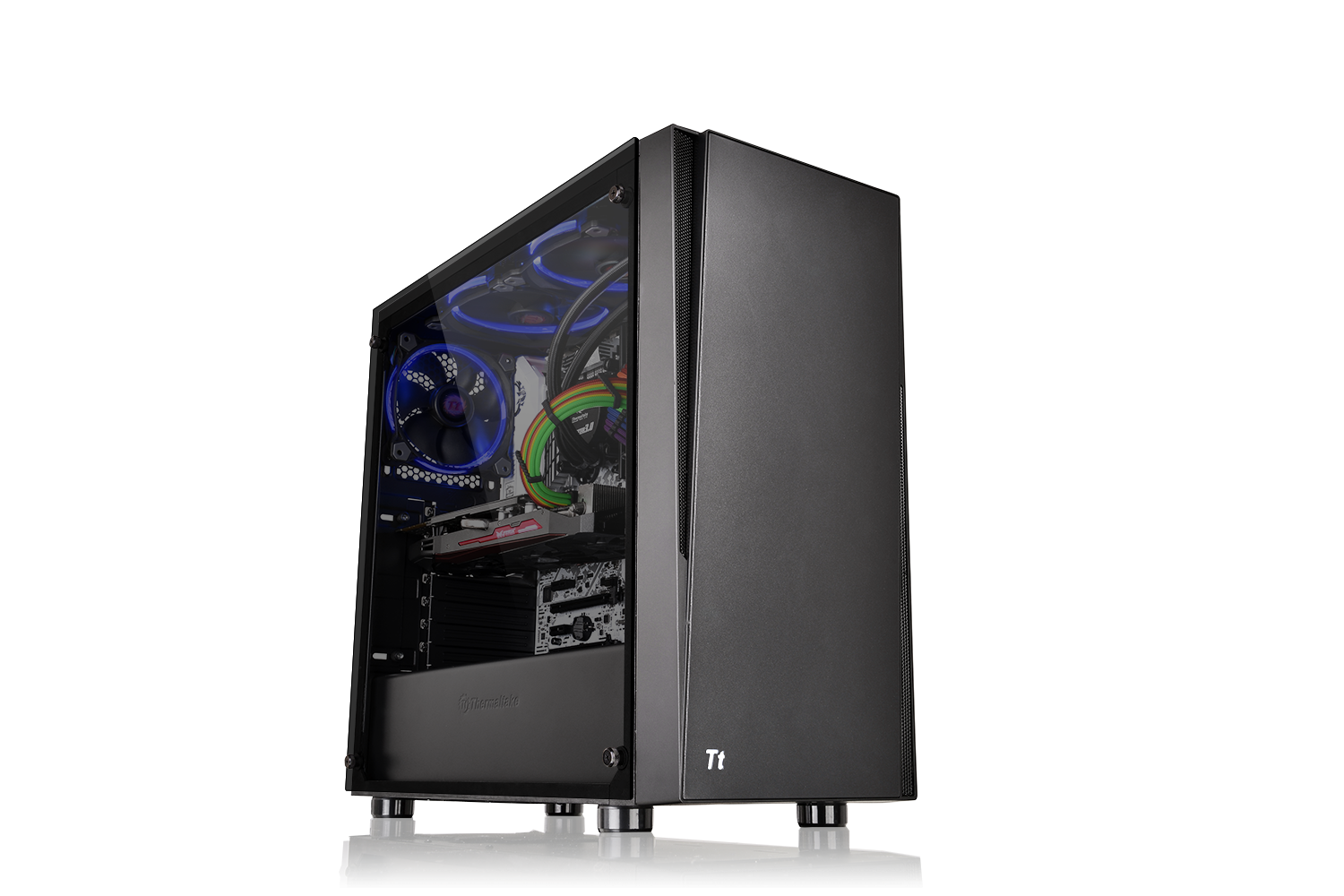 Кутия THERMALTAKE Versa J21 TG , Mid Tower, Черна