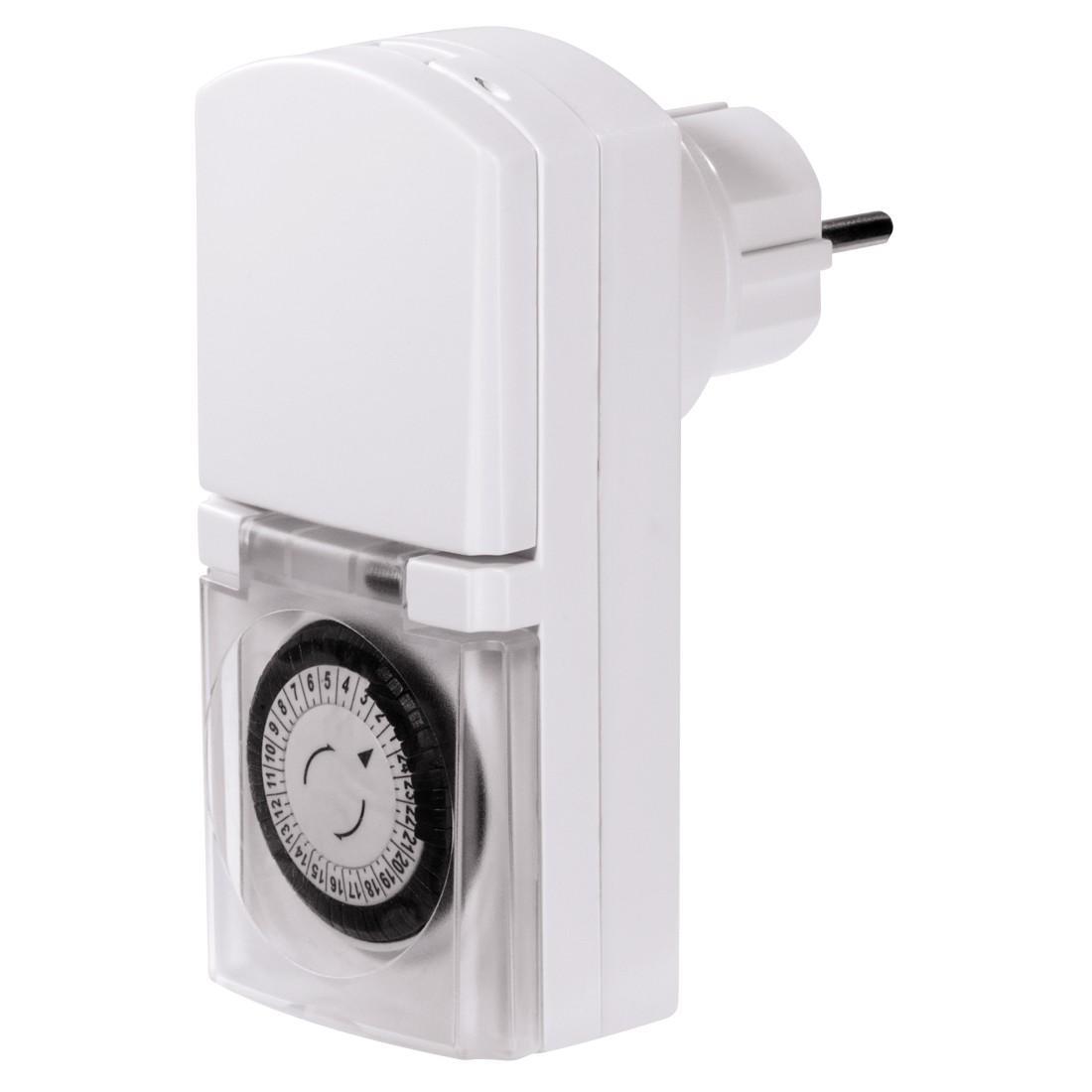 Механичен дневен таймер HAMA Mini 121953 за външна употреба, Бял