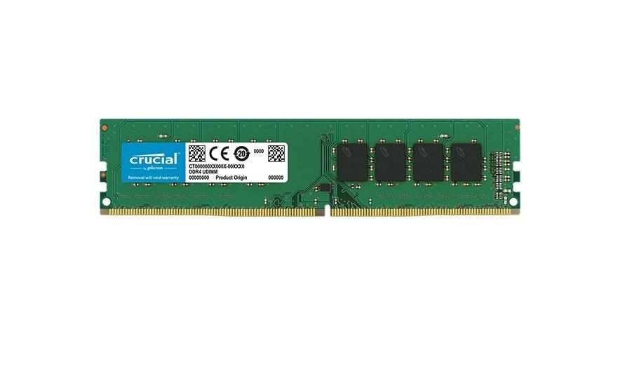 Памет Crucial single rank, 4GB DDR4 PC4-19200 2400Mhz CT4G4DFS824A