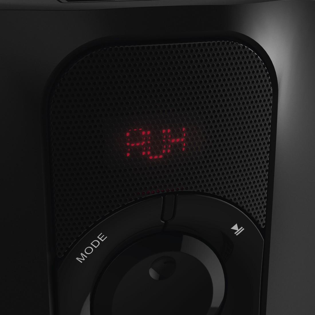 Озвучителна система HAMA PR-2180 173139, 2.1, 2 x 22W + 35W, Черен/Червен