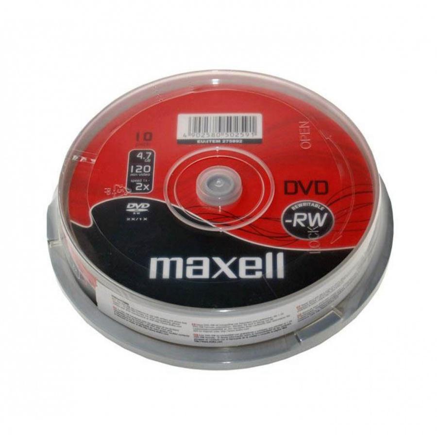 DVD-RW MAXELL, 4,7 GB, 4x, 10 бр.