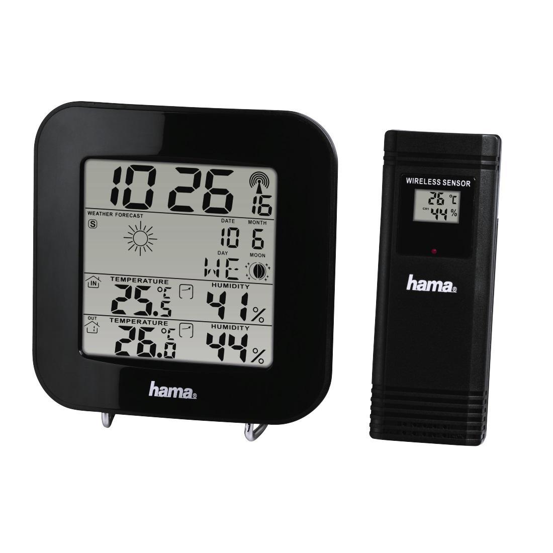 Електронна метеостанция HAMA EWS-200, черен