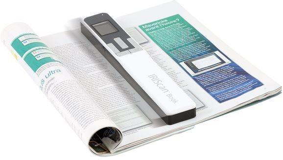 Преносим скенер IRIS IRIScan Book 5, A4, Бял, за книги и списания 30 стр/минута