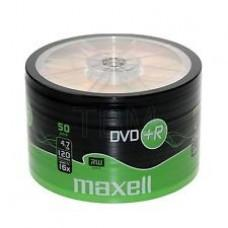DVD+R MAXELL, 4,7 GB, 16x, 50 бр.