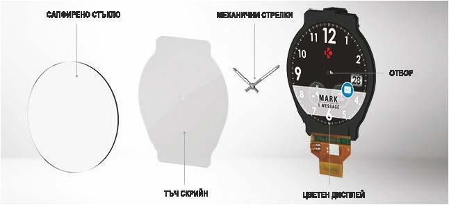 Хибриден смарт часовник MyKronoz ZeTime Regular Silver/Black, силиконова черна каишка
