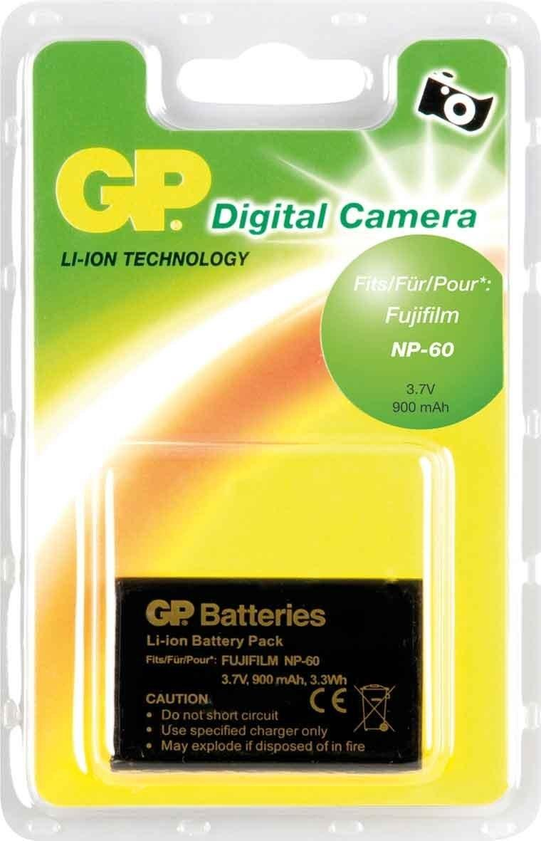 Батерия за апарат FUJI NP60, Li-Ion, 3.7V, 900mAh, GP