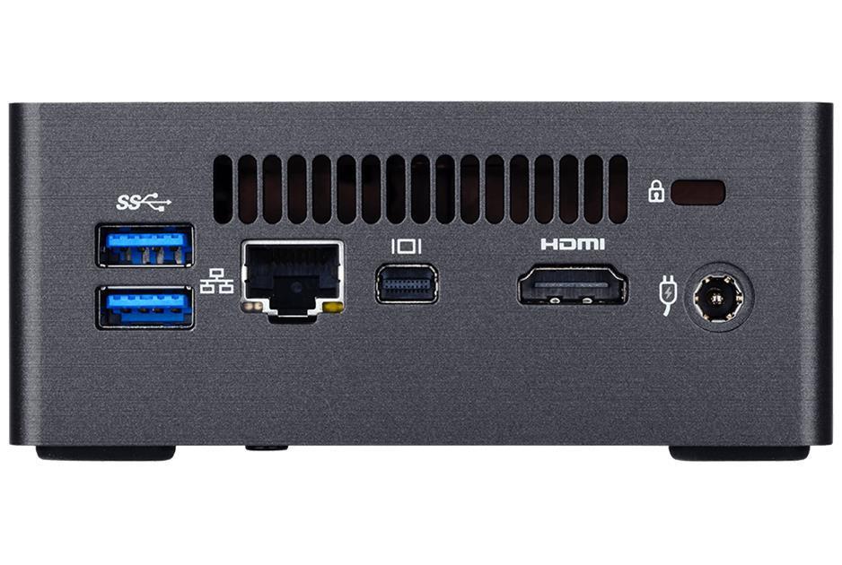 Настолен мини компютър Gigabyte Brix BKi7HA с Intel® Core™i3-7100U, 2 x SO-DIMM DDR4, M.2 SSD,HDD/SSD,USB Type-C™, WF+BT, черен
