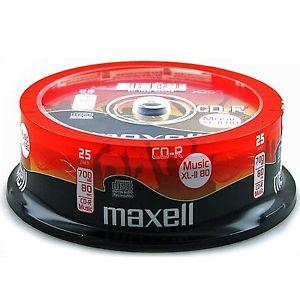 CD-R Music XL-II MAXELL, 700MB, 80 min, 25 бр