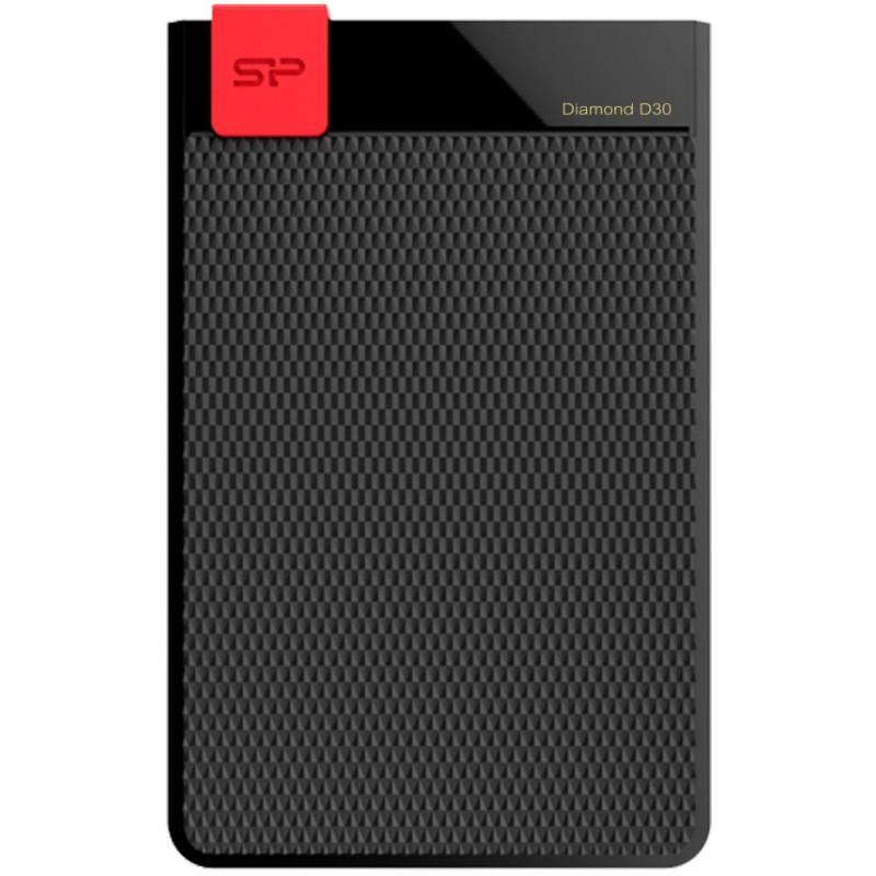 "Външен хард диск SILICON POWER Diamond D30 Black 2TB 2.5"" HDD USB 3.1"