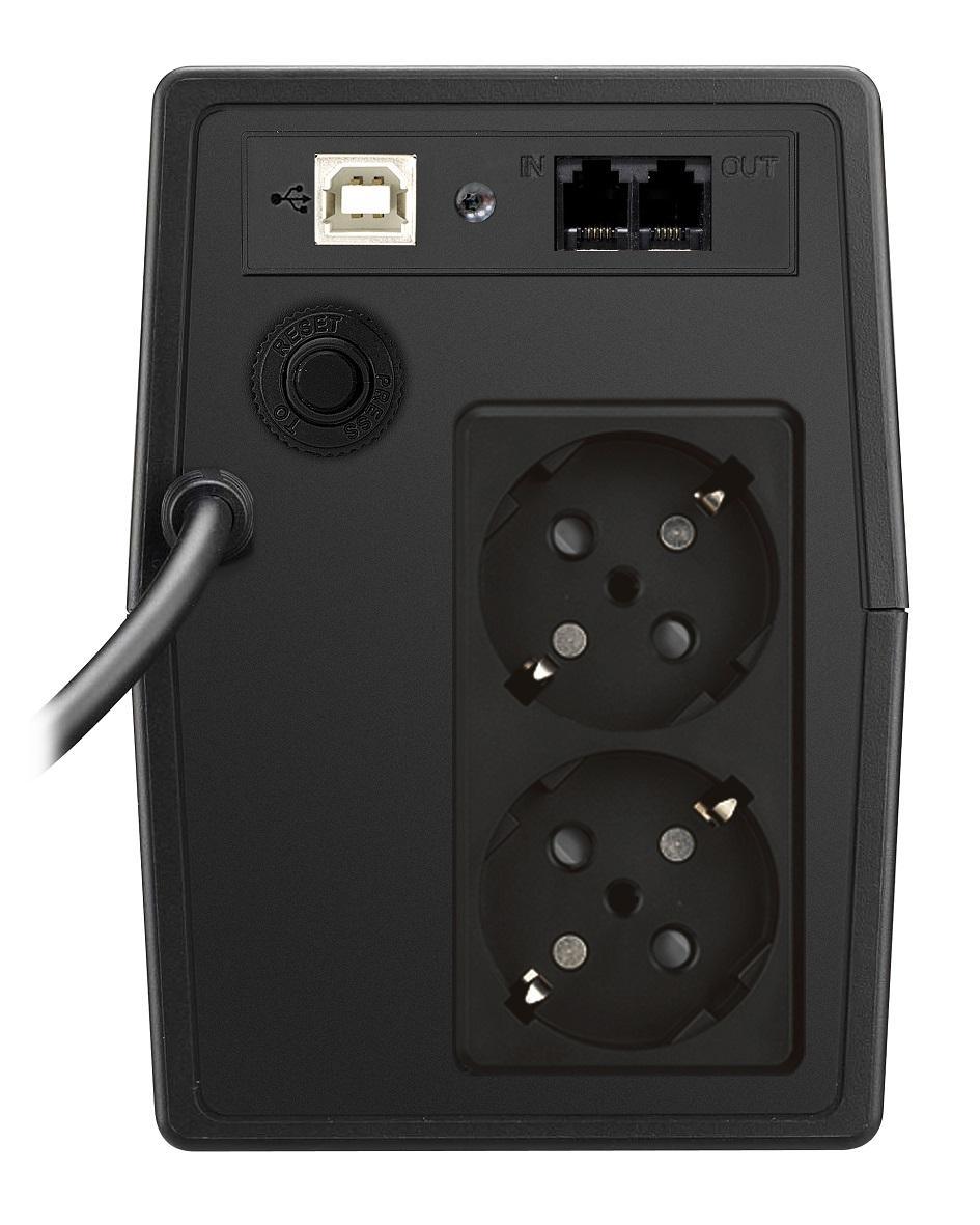 UPS MUSTEK PowerMust 800-LCD-LI-T10, 800VA/480W Schuko (шуко), LCD, Line-Interactive
