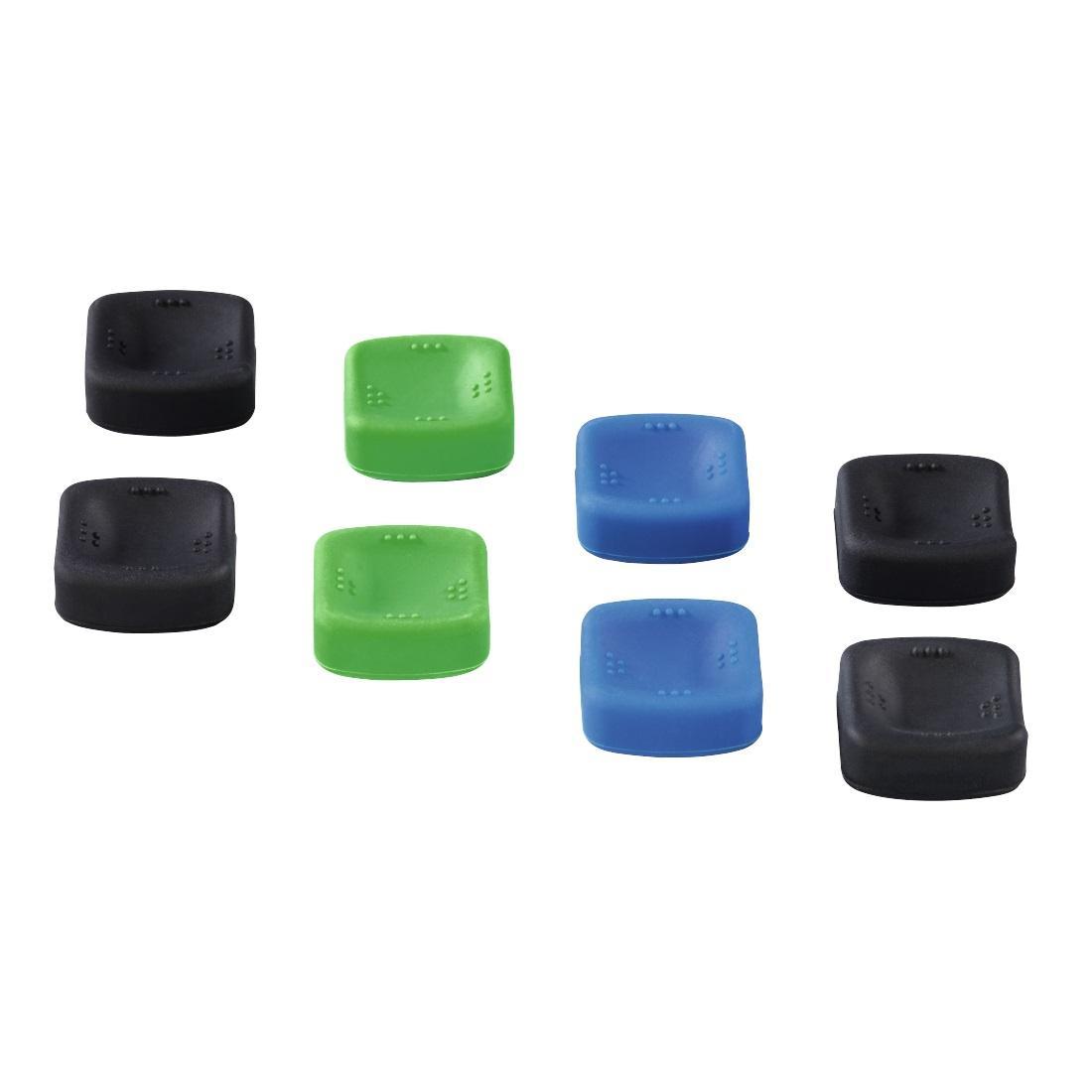 Сменяеми бутончета HAMA Square, Комплект, 8-in-1 за PS4/Xbox One, черен/зелен/син