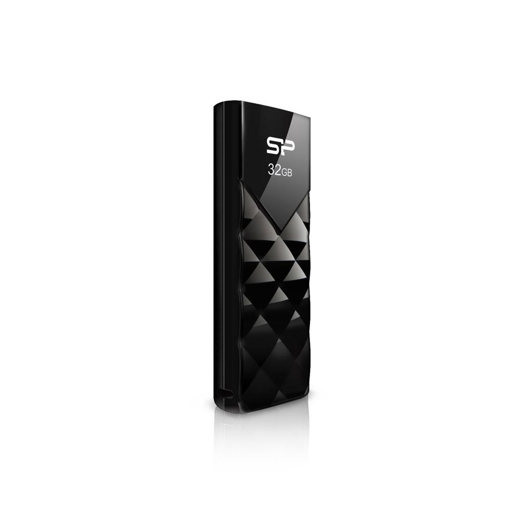 USB памет SILICON POWER Ultima U03, 8GB, Черен
