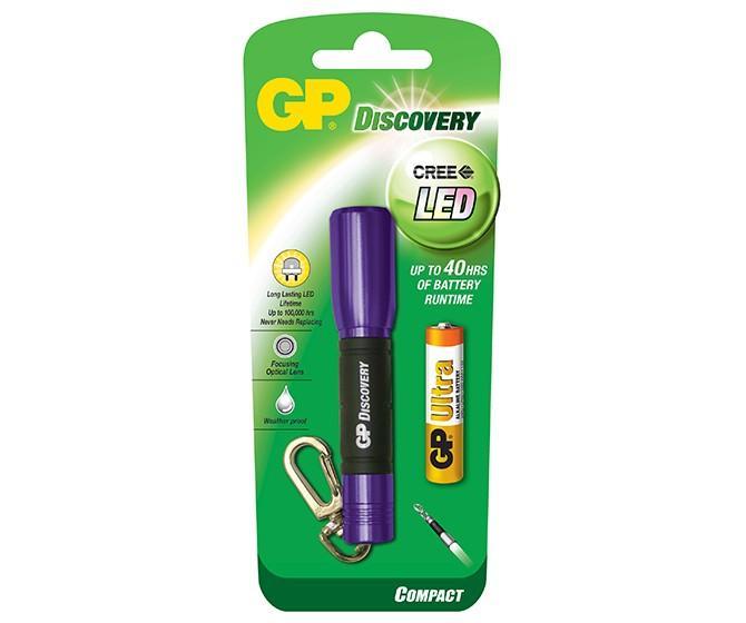 Фенер GP BATTERIES LCE202 Discovery CREE LED с 1*AАА батерии, ключодържател, лилав