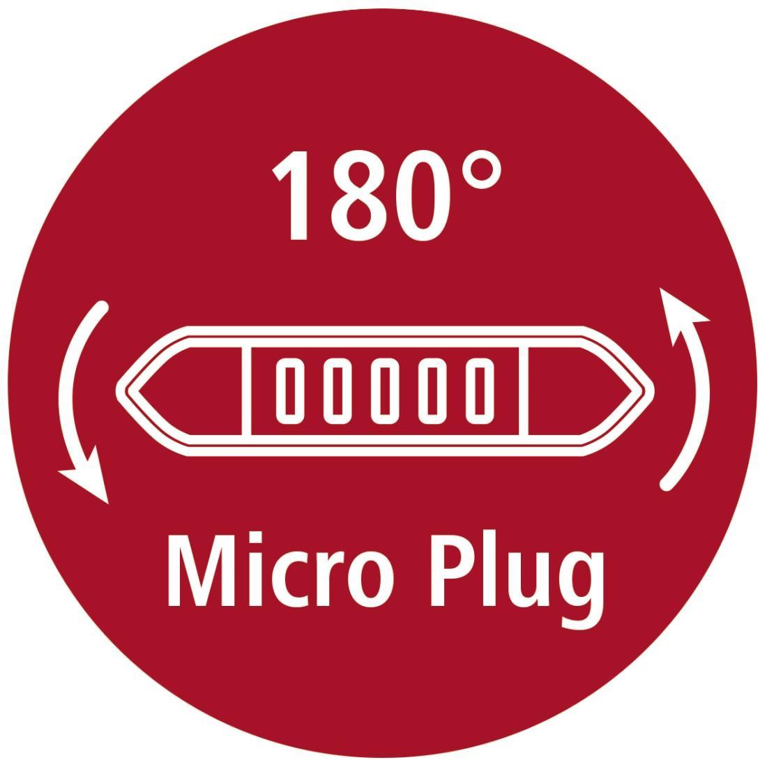Кабел HAMA Flexi-Slim 135700 Micro USB, 0.75 м., Позлатени конектори, Черен