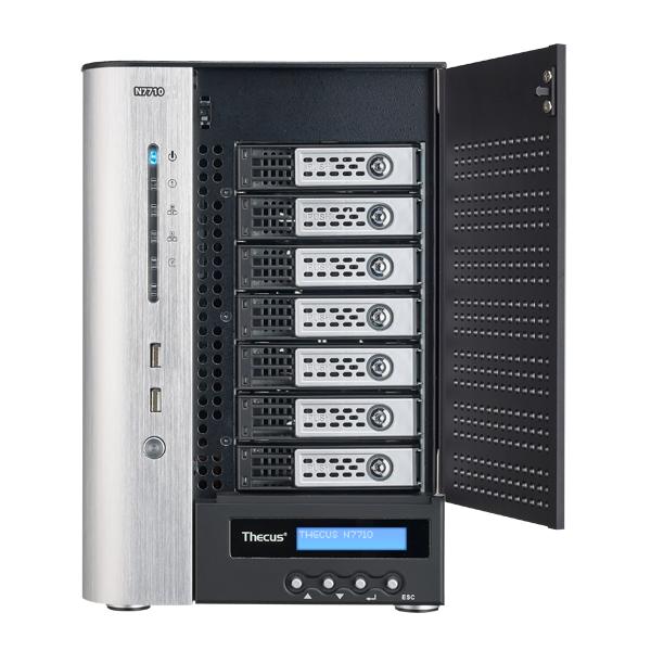 Мрежов сторидж Thecus NAS N7710 Tower до 7 диска до 28TB,Intel Pentium G850 2.9Ghz Dual Core,4GB DDR3 ECC, USB2.0,USB 3.0,HDMI,VGA