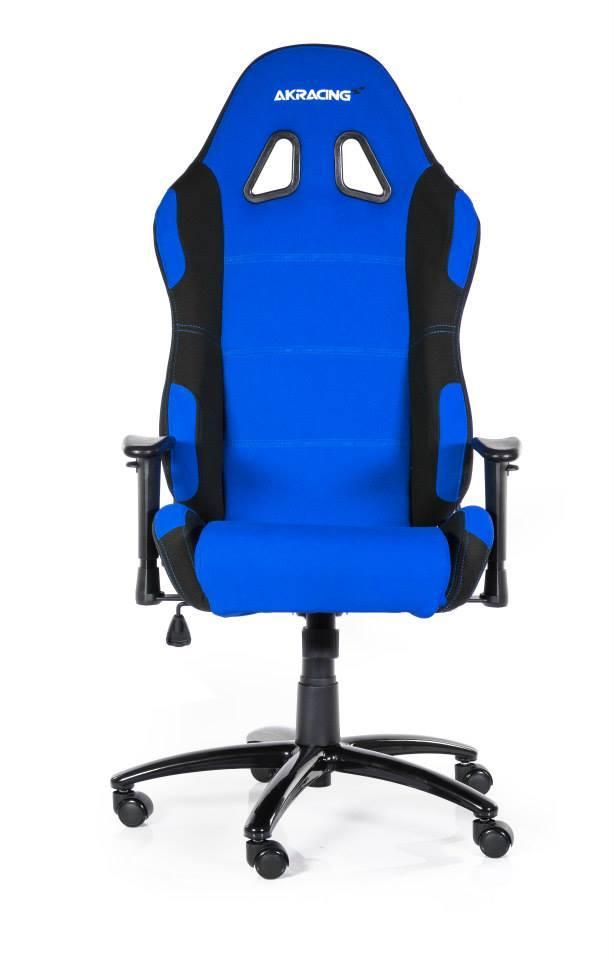 Геймърски стол AKRACING, синьо и черно