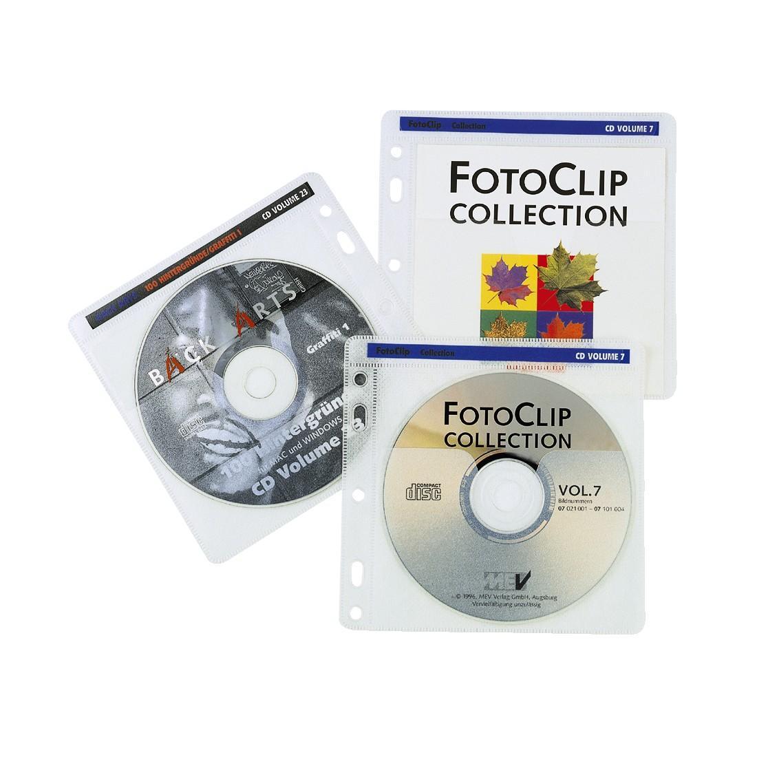 Полиетиленов плик за CD/DVD- 40 бр.пакет HAMA 48444, прозрачен