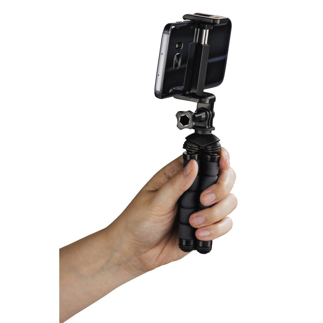 Мини статив HAMA Flex, за смартфони, 14 см, Черен