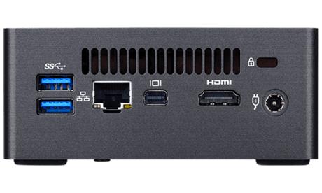 Настолен мини компютър Gigabyte Brix BKi7HA, Intel® Core™i3-7100U, 4GB DDR4, 240GB SSD, USB Type-C, WF+BT, черен