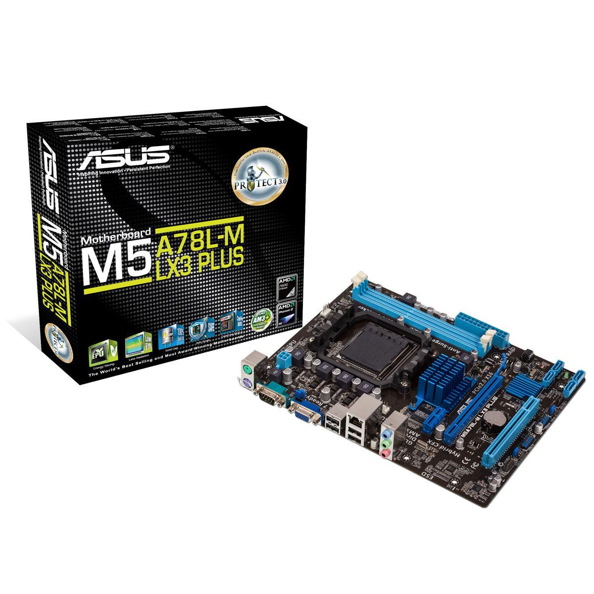 Дънна платка ASUS M5A78L-M LX3 Socket AM3+, 2xDDR3